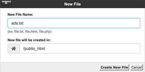 Crear archivo de ads.txt