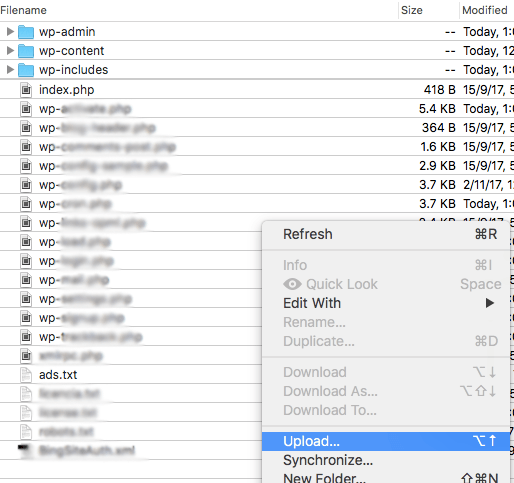 Cómo subir ads.txt con FTP