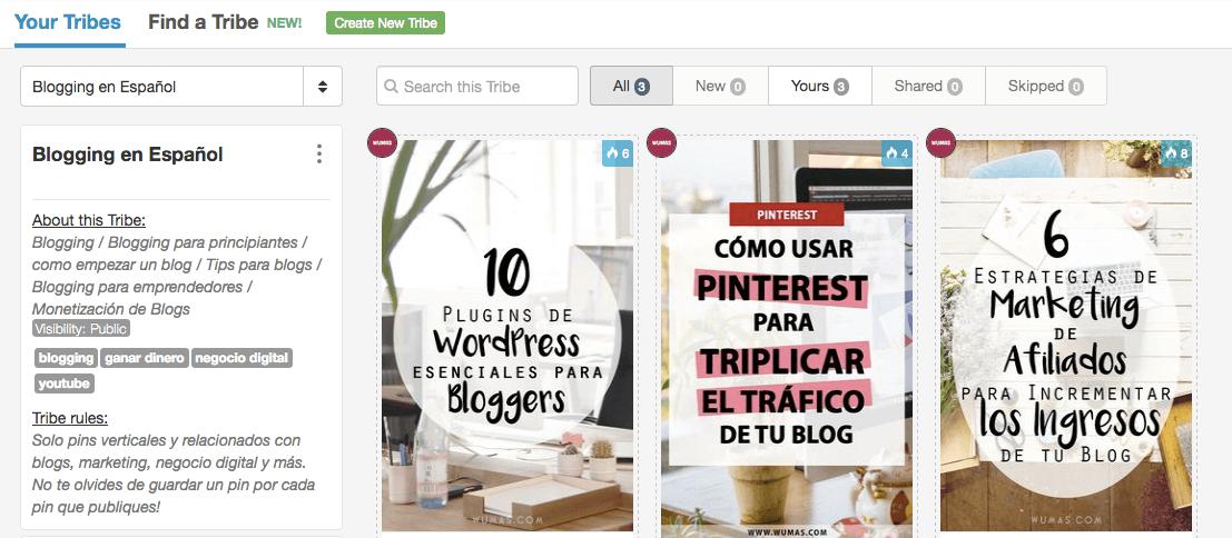 Tailwind Tribes para Pinterest