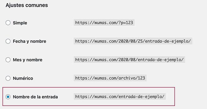 SEO: URLs amigables con el nombre en WordPress